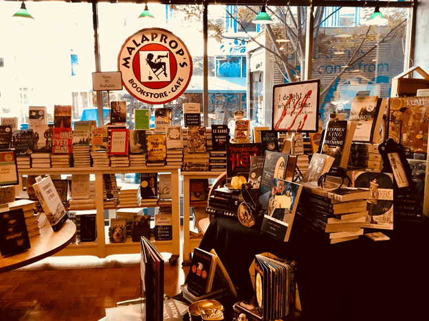 A view inside Malaprops bookstore