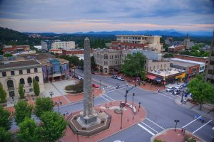 A view of Pack Square, Asheville NC